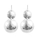 Genevieve Double Disc Earrings | Silver