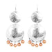 Genevieve Double Disc Earrings | Silver With Polished Rose Drops