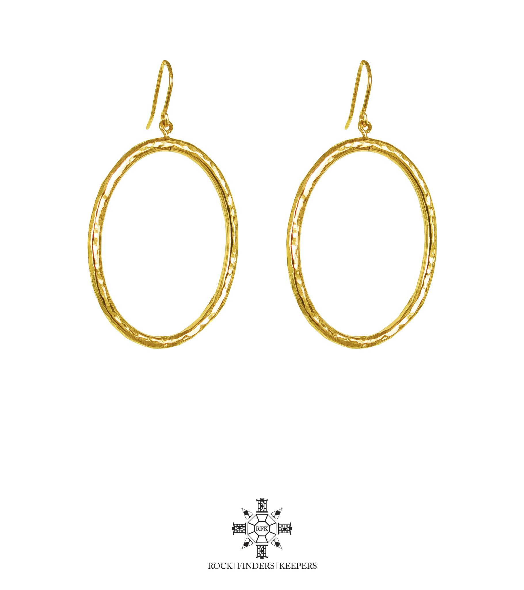 Harper Large Oval Hoop Earrings | Gold