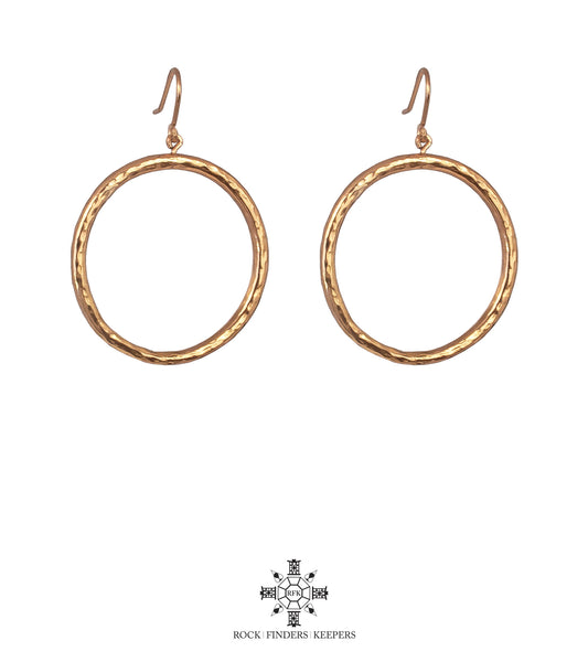 Harper Large Hoop Earrings | Rose