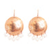 Harlow Large Disc Earrings | Rose With Pearl Drops