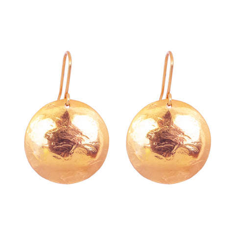 Harlow Large Disc Earrings | Rose