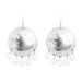 Harlow Large Disc Earrings | Silver With Pearl Drops