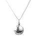 Harlow Large Disc Necklace | Silver With Hammered Silver Detail