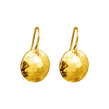Harlow Medium Disc Earrings | Gold