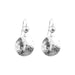 Harlow Medium Disc Earrings | Silver With Polished Silver Detail Above