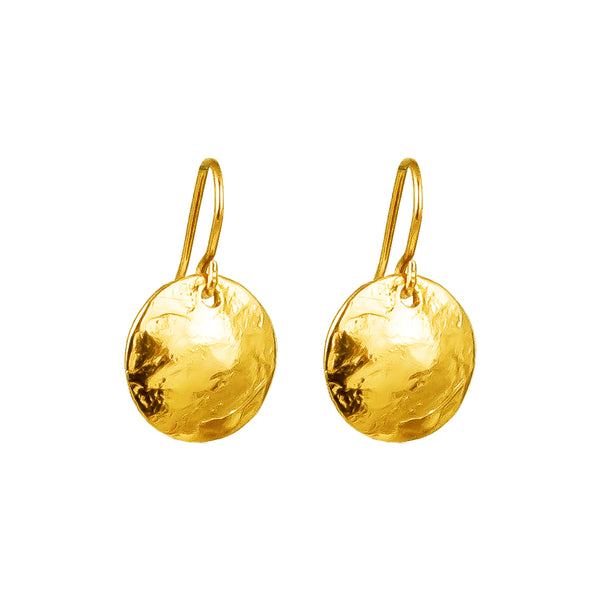 Harlow Small Disc Earrings | Gold