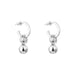 Hilton Hoop Earrings | Medium Polished Silver Detail