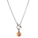 Hilton Large Charm Necklace | Polished Rose Detail
