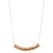 Husk Large Hammered Bar Necklace - Long | Rose