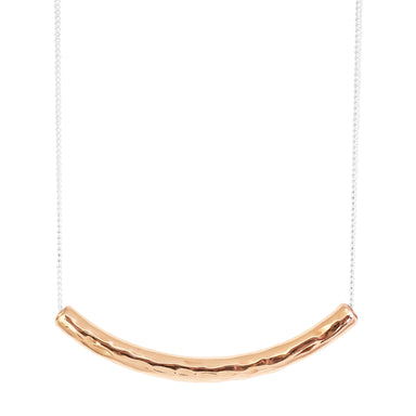 Husk Medium Hammered Bar Necklace | Rose