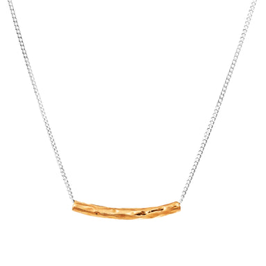 Husk Petite Hammered Bar Necklace | Rose