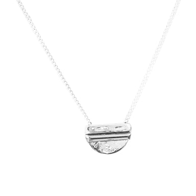 Inez Fine Necklace | Polished Silver Detail