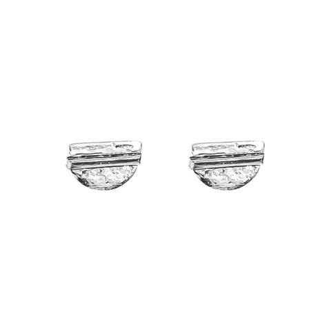 Inez Fine Stud Earrings | Polished Silver Detail
