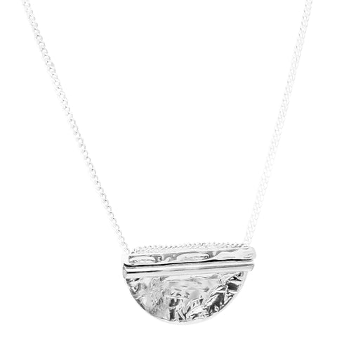 Inez Large Necklace | Polished Silver Detail