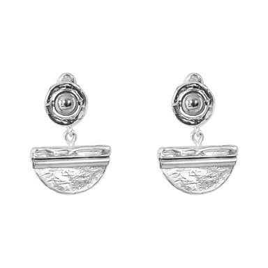 Inez Medium Earrings | Polished Silver Detail