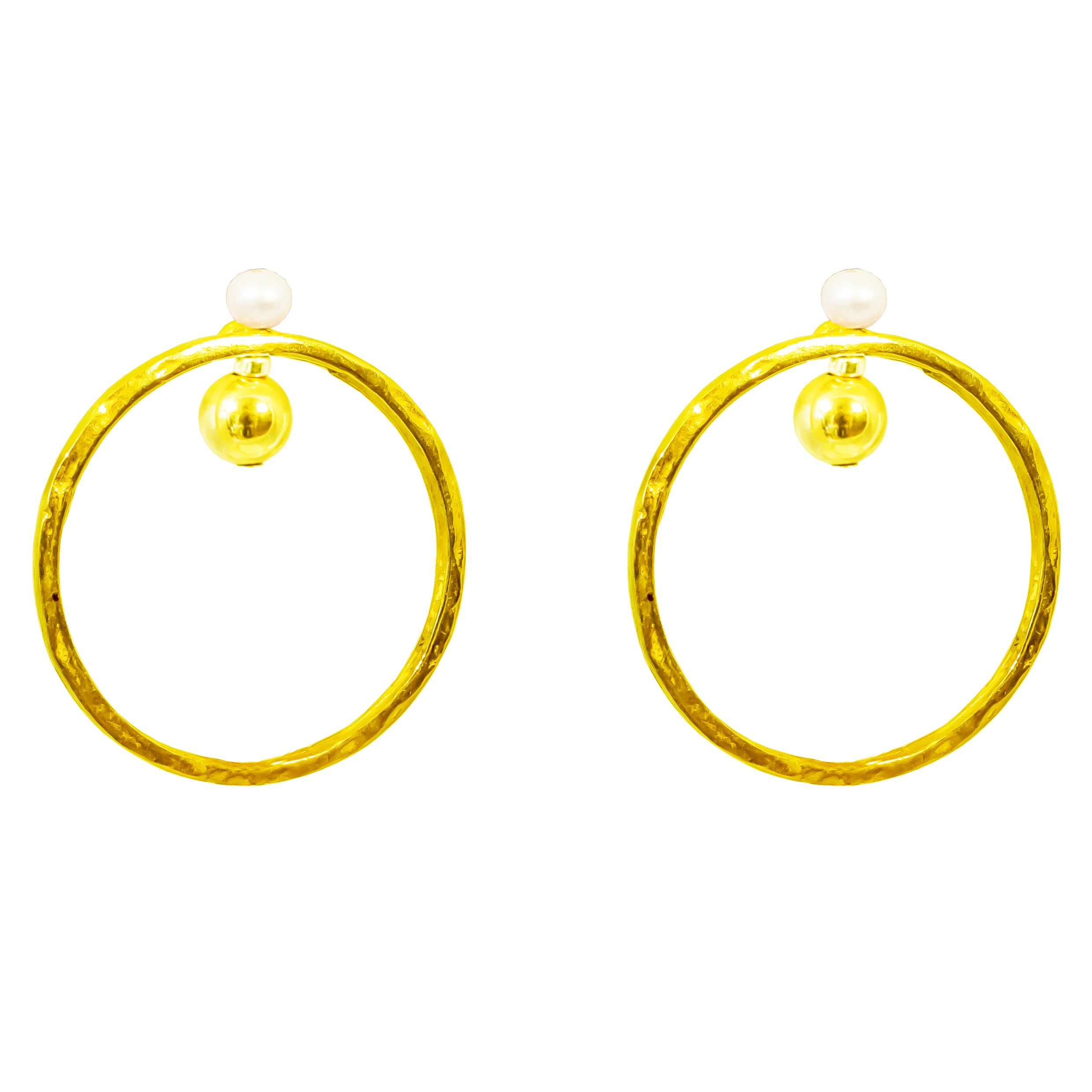 Jennifer Earrings | Gold With Pearl Detail
