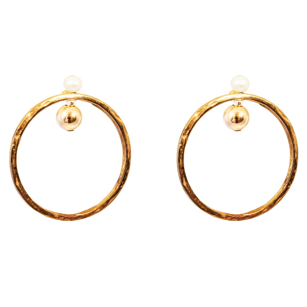 Jennifer Earrings | Rose With Pearl Detail