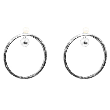 Jennifer Earrings | Silver With Pearl Detail