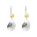 Jasmine Teardrop Earrings | Polished Gold Detail