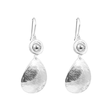 Jasmine Teardrop Earrings | Polished Silver Detail