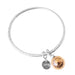 Kristy Bangle | Hammered Rose Detail