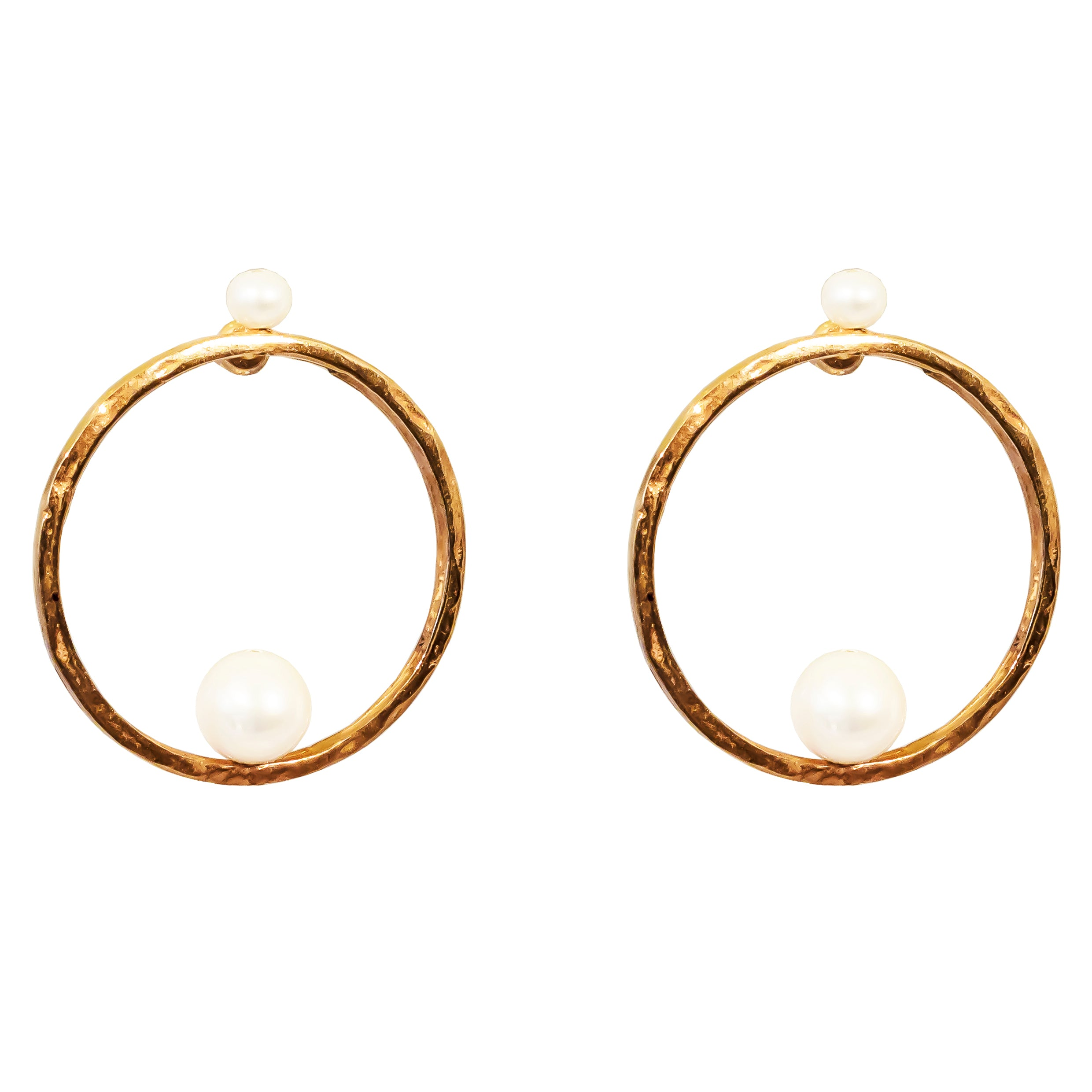 Layla Earrings | Rose With Pearl Detail