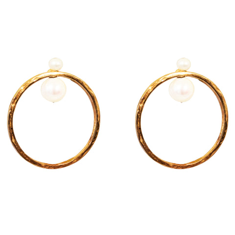 Luciana Earrings | Rose With Pearl Detail