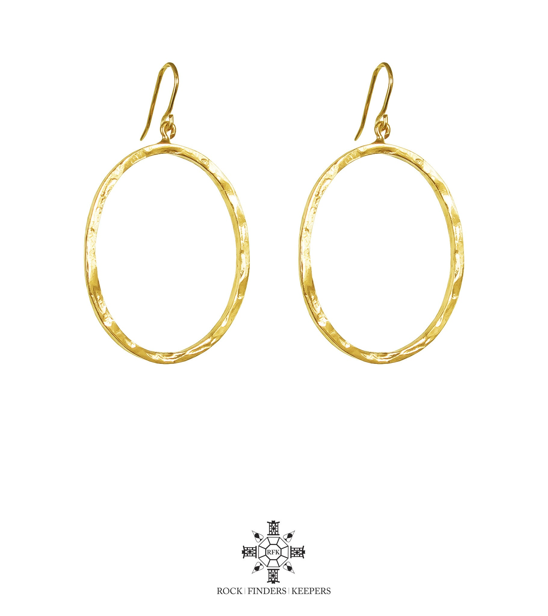 Mason Large Oval Hoop Earrings | Gold