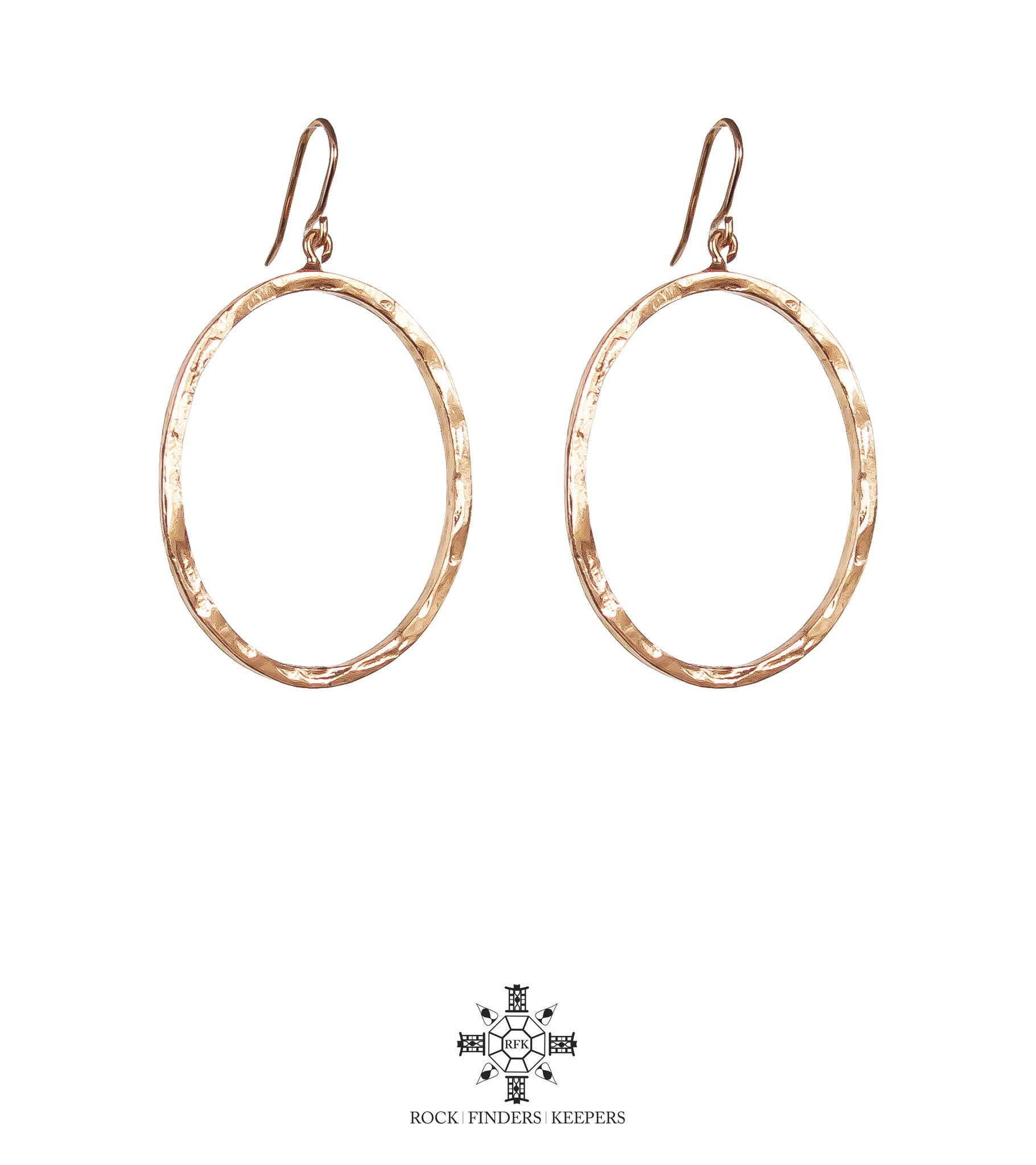 Mason Large Oval Hoop Earrings | Rose