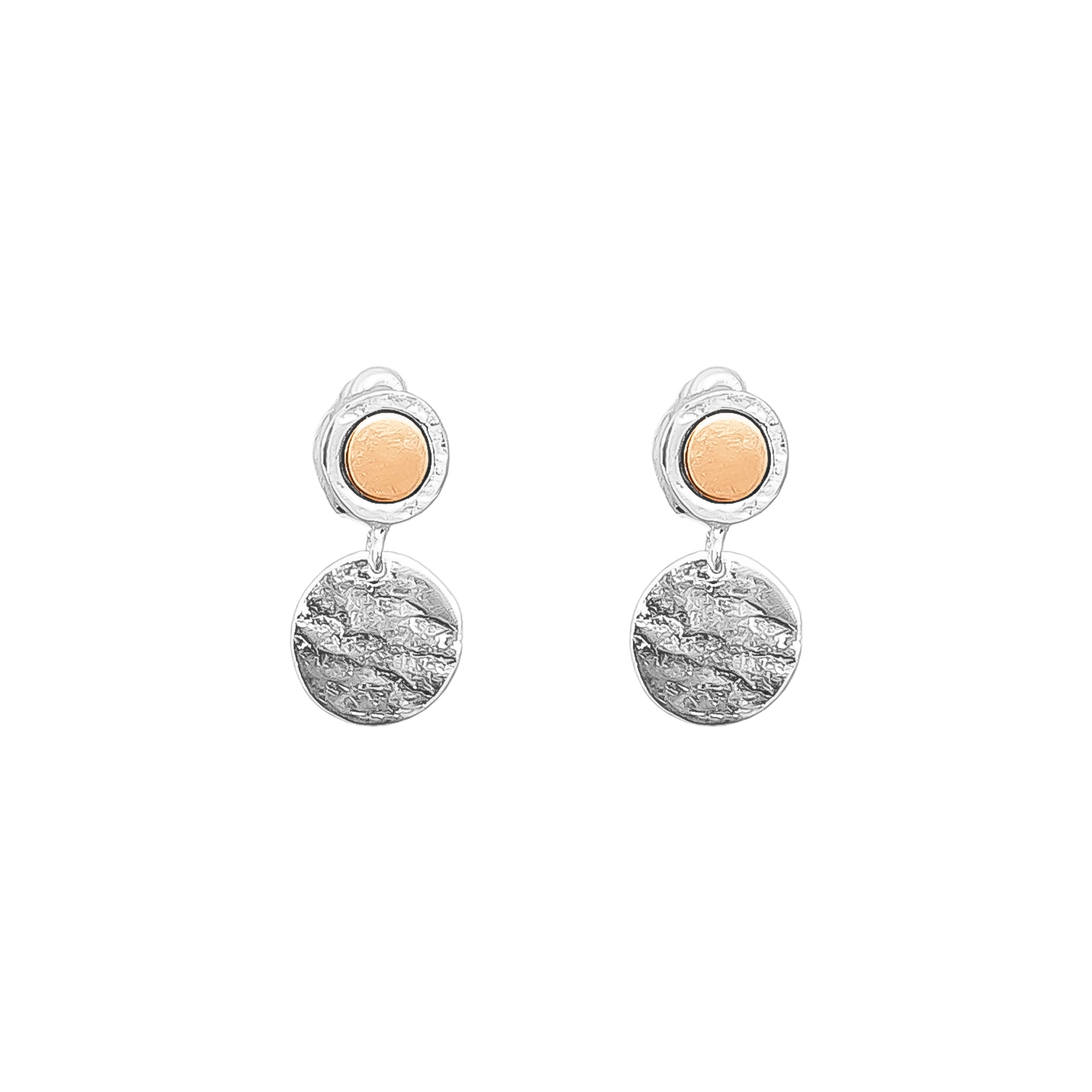 Mercury Disc Earrings | Polished Rose Detail