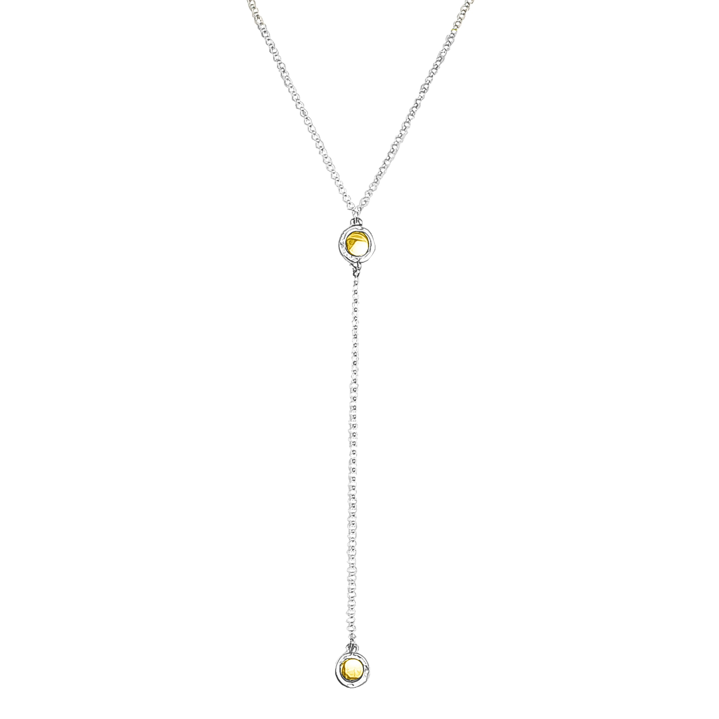 Mercury Double Feature Lariet Necklace - Mid | Polished Gold Detail