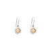 Mercury Fine Drop Earrings | Polished Rose Detail