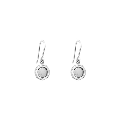 Mercury Fine Drop Earrings | Polished Silver Detail