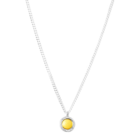Mercury Fine Necklace | Polished Gold And Silver Detail