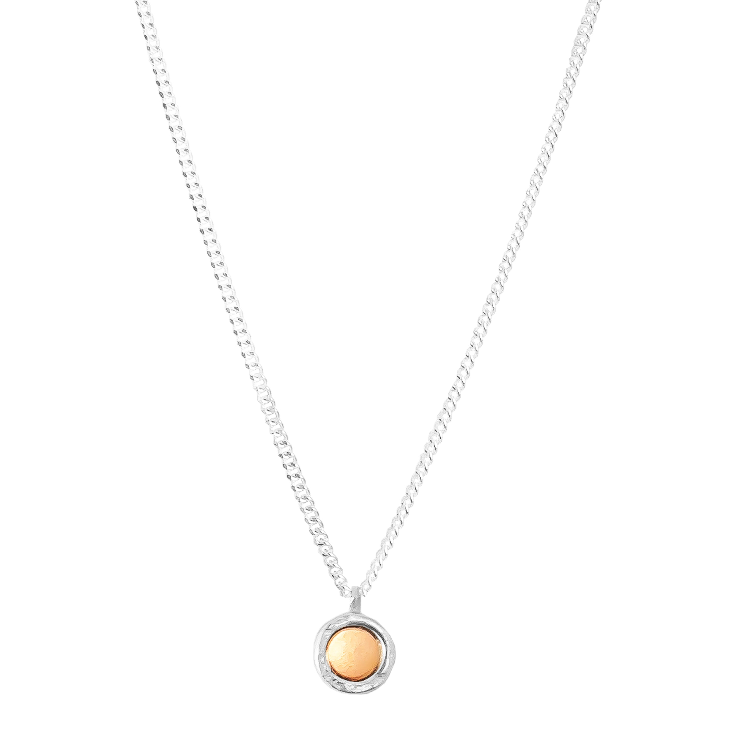 Mercury Fine Necklace | Polished Rose And Silver Detail