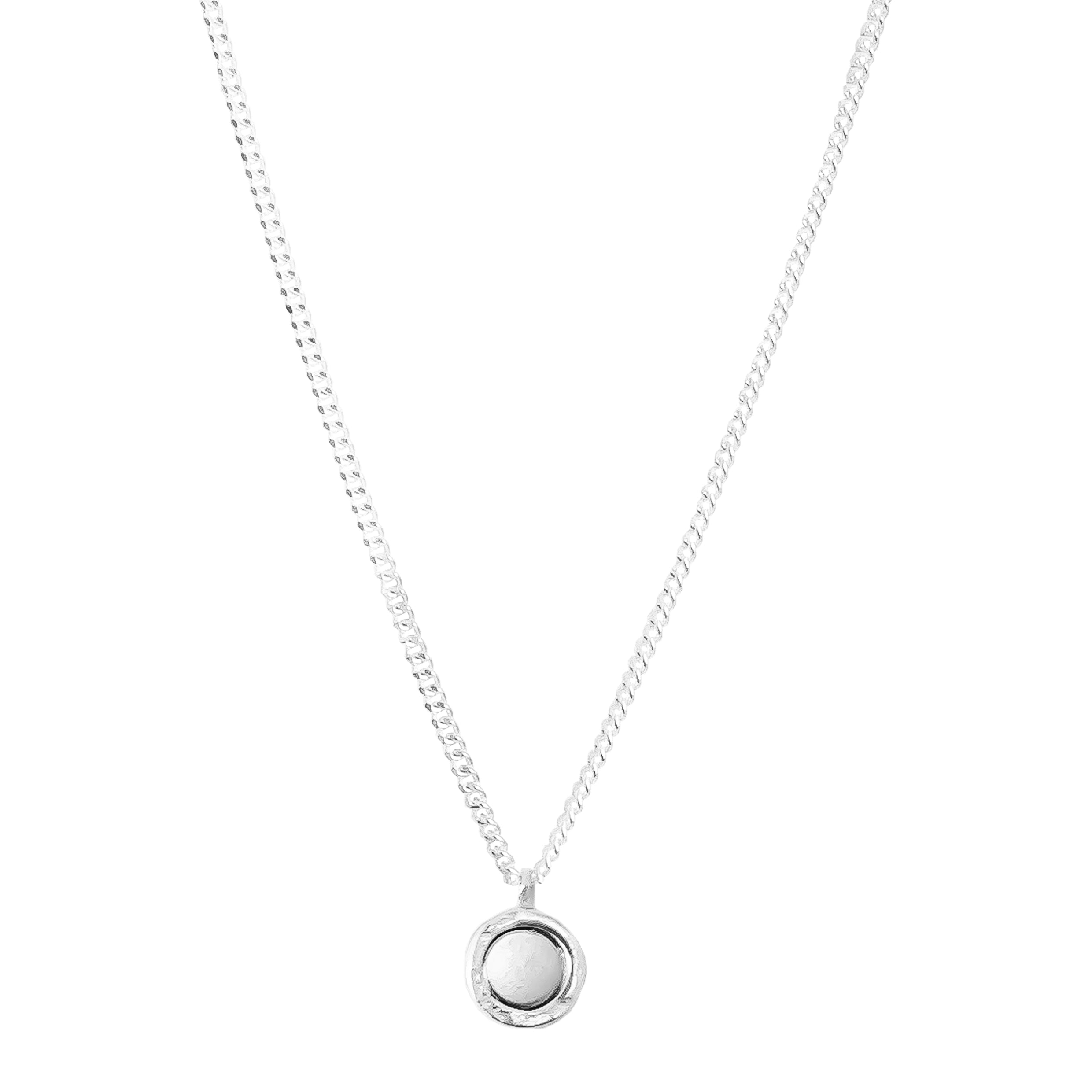Mercury Fine Necklace | Polished Silver And Rose Detail
