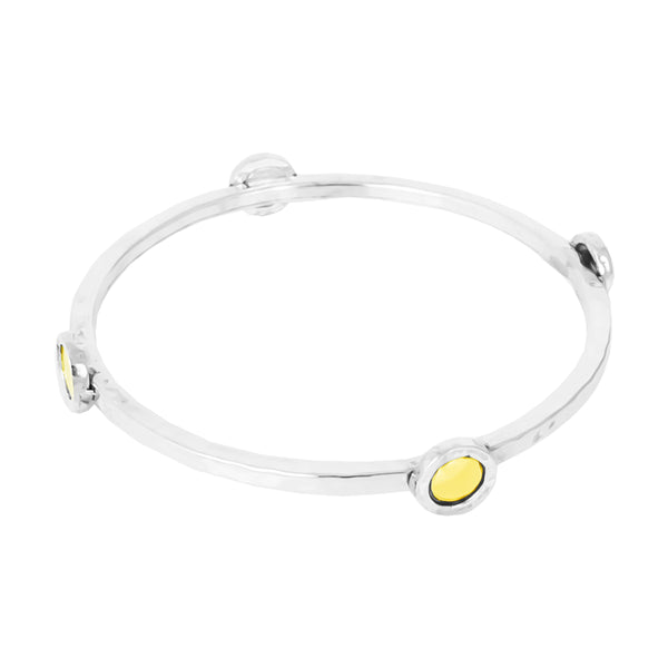 Mercury Multi Disc Bangle | Polished Gold Detail