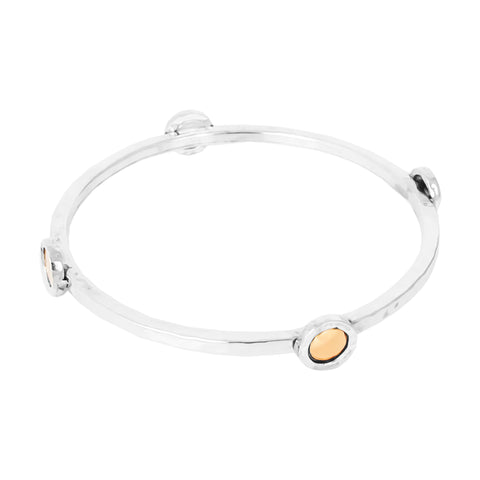 Mercury Multi Disc Bangle | Polished Rose Detail