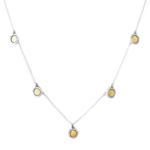 Mercury Multi Disc Necklace | Polished Gold Detail