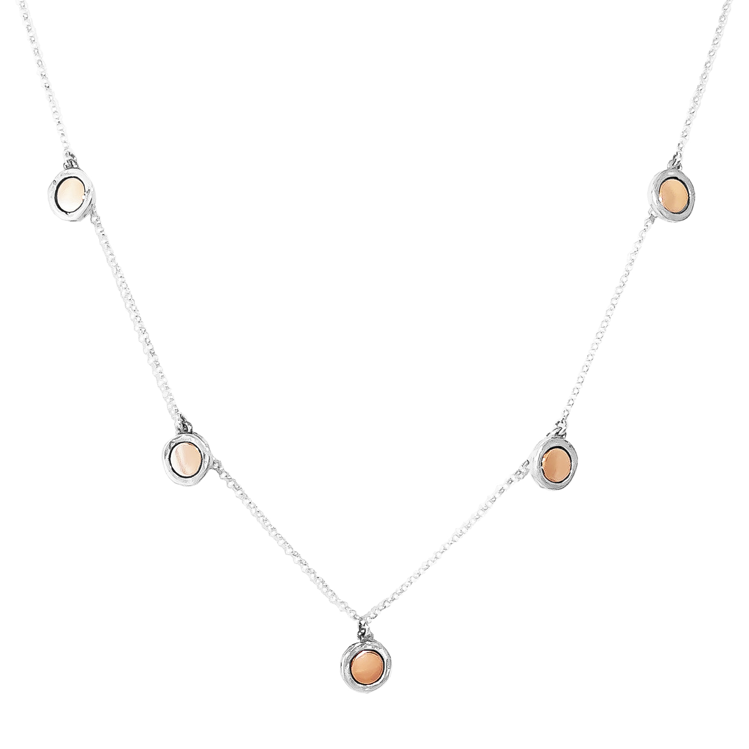 Mercury Multi Disc Necklace | Polished Rose Detail