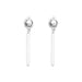 Mercury Polished Bar Earrings | Polished Silver Detail