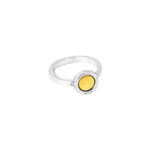 Mercury Ring | Polished Gold Detail