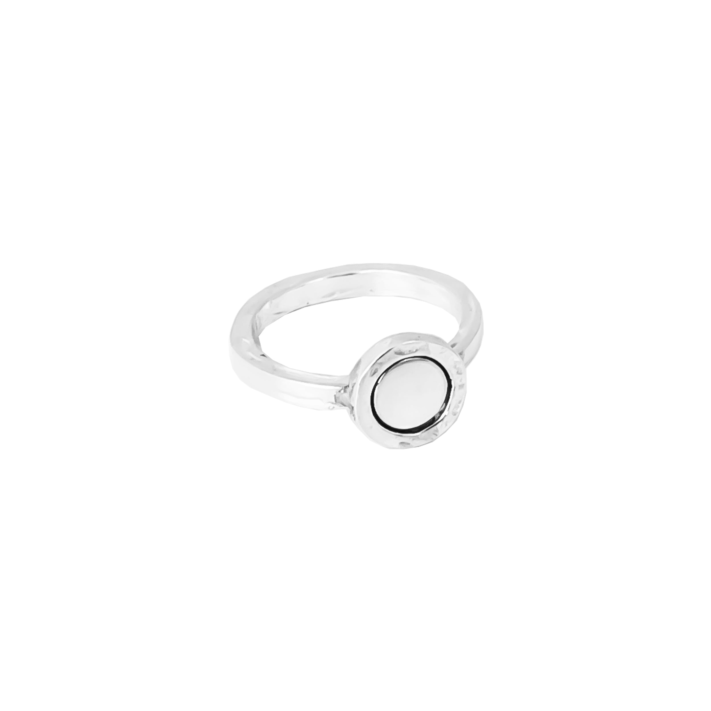 Mercury Ring | Polished Silver Detail