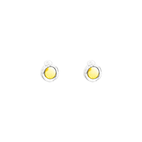 Mercury Stud Earrings | Polished Gold Detail