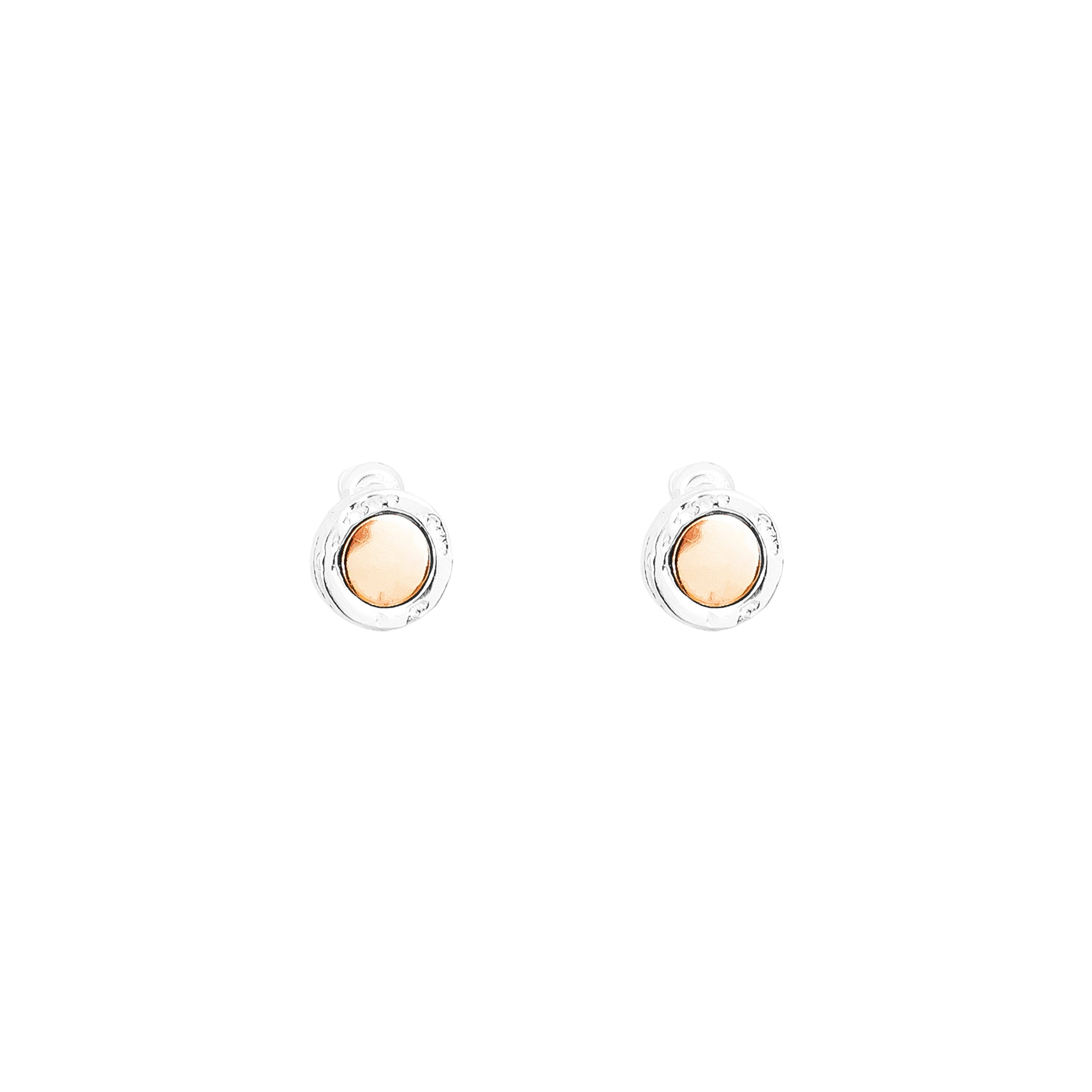 Mercury Stud Earrings | Polished Rose Detail