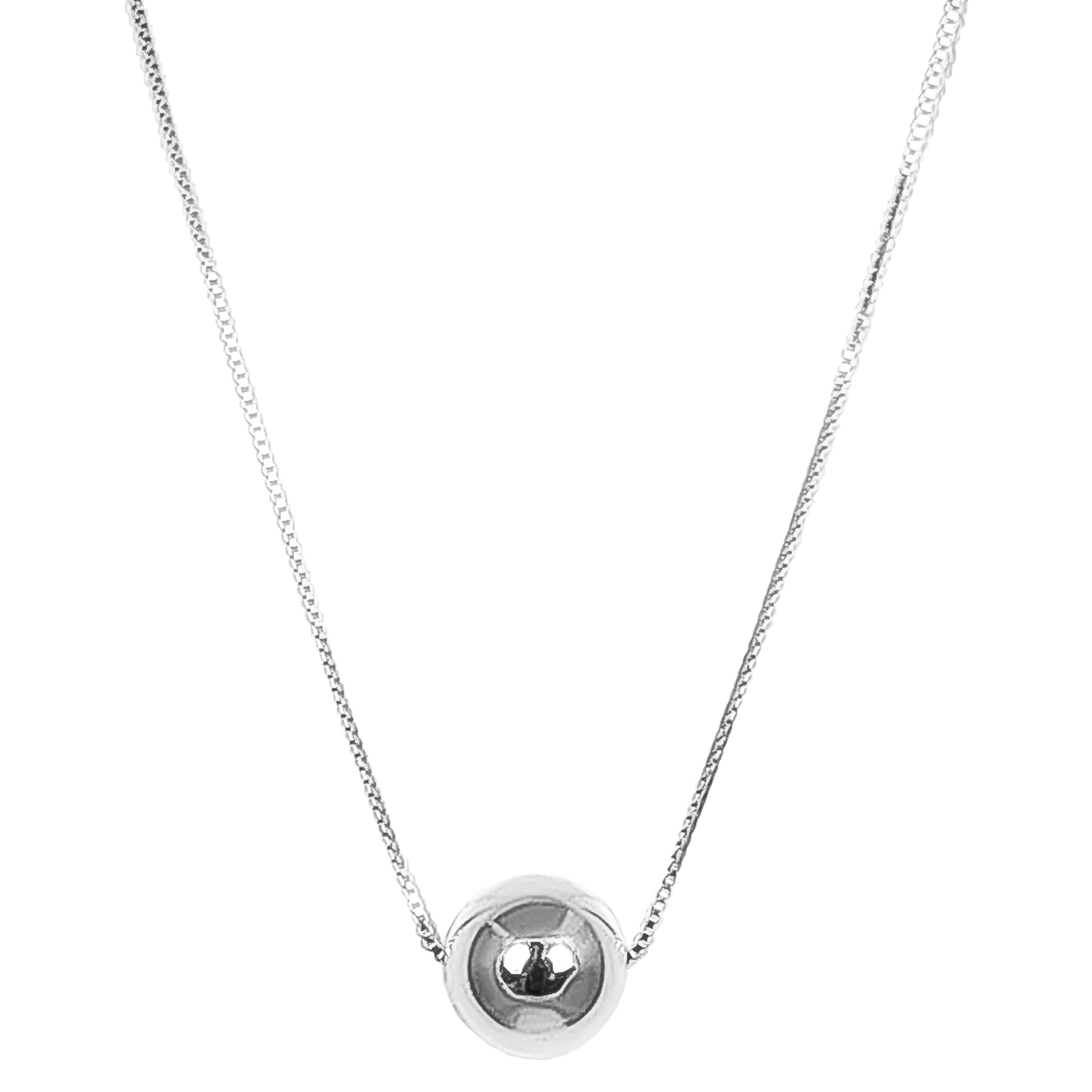 Milli Necklace - Long | Polished Silver Detail