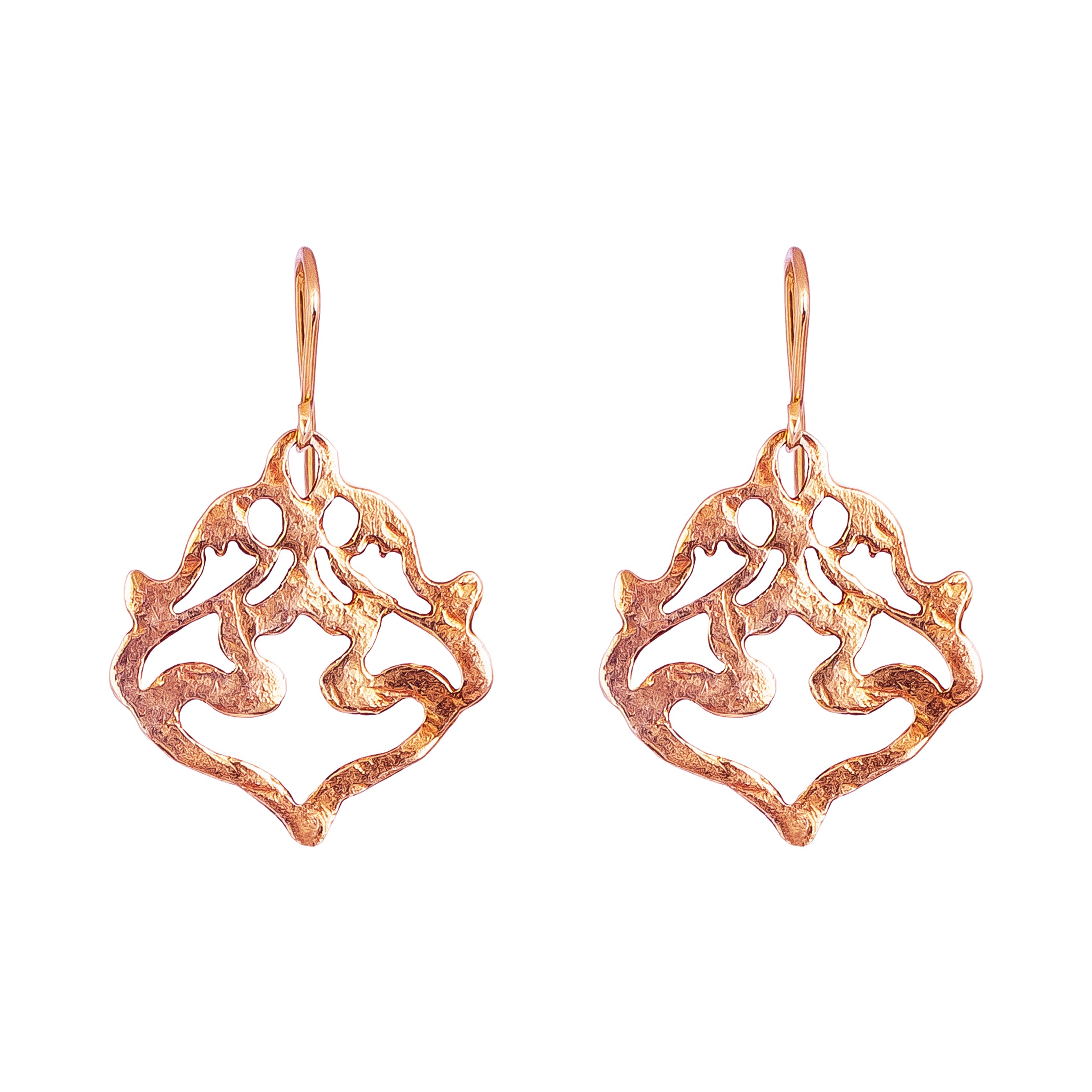 Nina Hammered Earrings | Rose