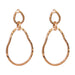 Paradis Large Double Link Earrings | Rose