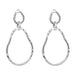 Paradis Large Double Link Earrings | Silver